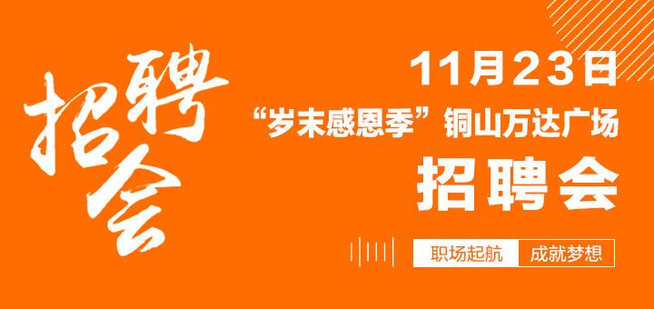 11月23日(周六)爱博体育app手机版英才网铜山万达广场大型综合类招聘会